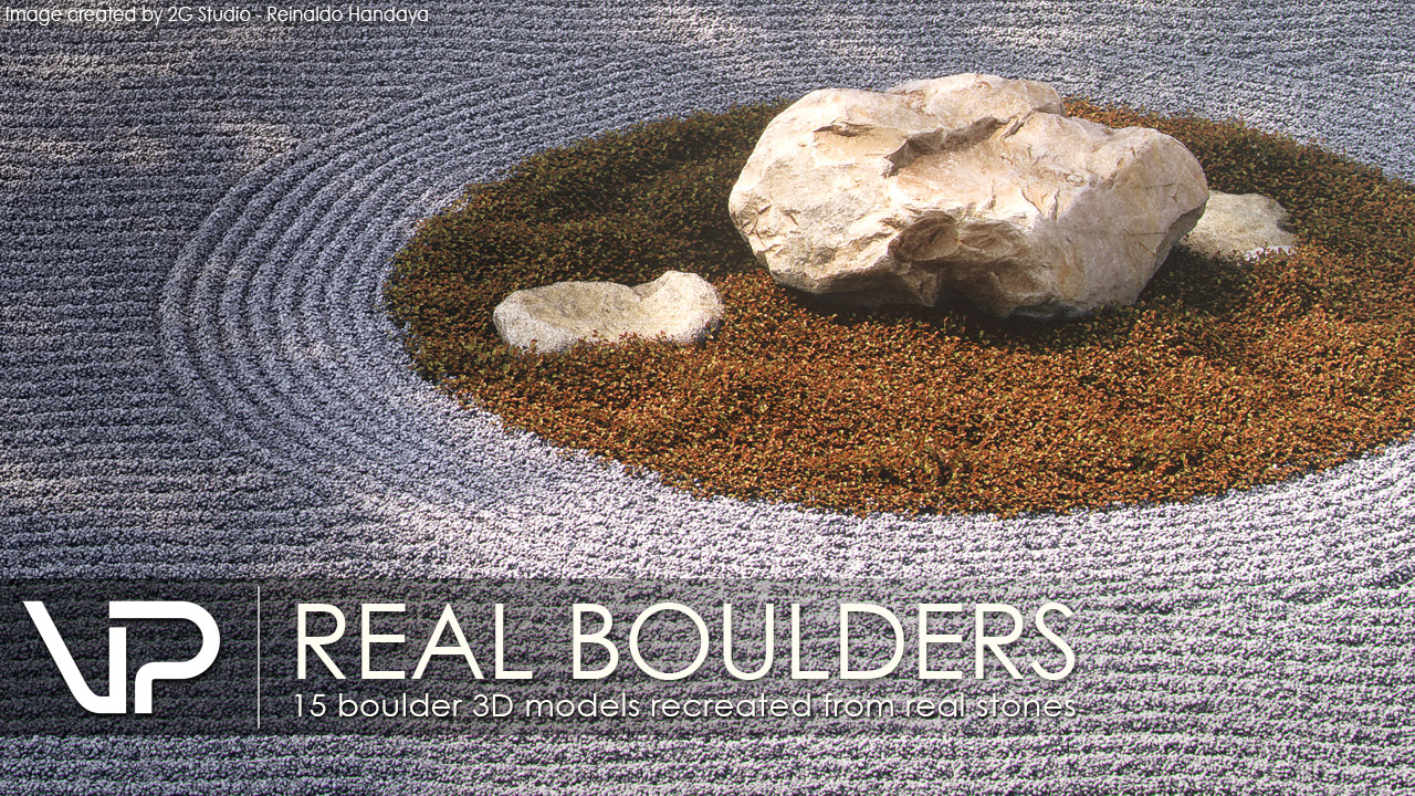 VP | REAL BOULDERS (including Corona support for 3ds Max + C4D)