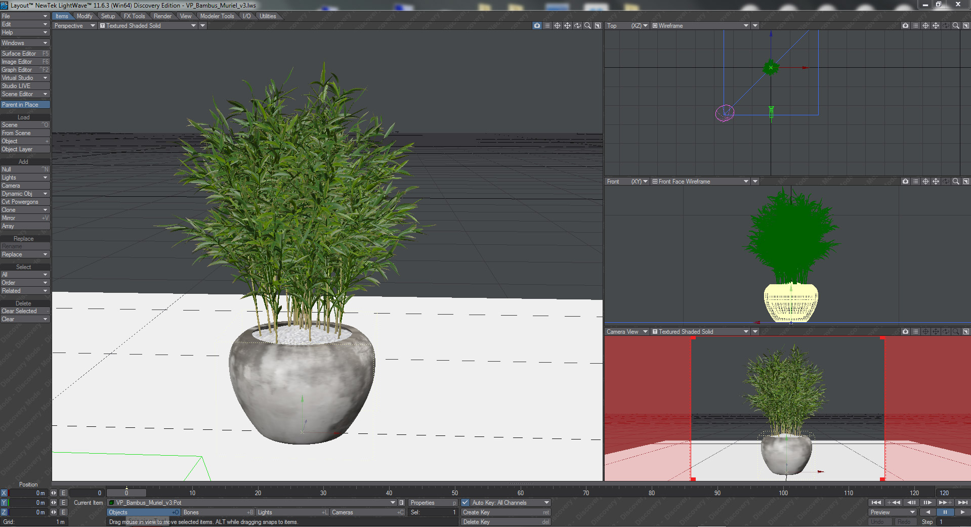Interior Plants -LightWave