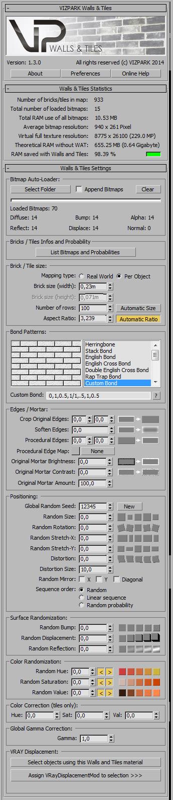 Walls & Tiles v1.3 GUI