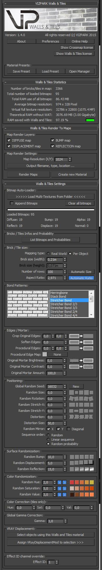 Walls & Tiles GUI
