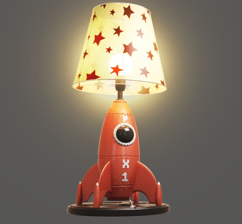 Vicki´s Wish - Rocket Lamp