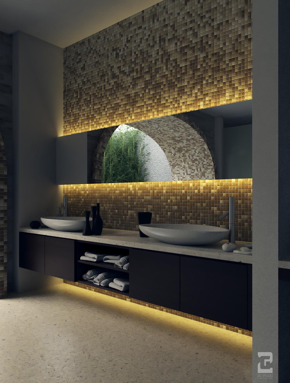 Balinese villa bathroom ii by 2g studio vizpark for Balinese bathroom design