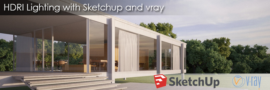 Hdri lighting with sketchup and vray vizpark for Setting render vray sketchup exterior