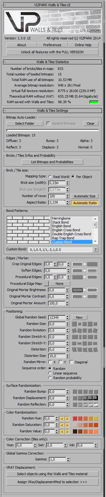 Walls & Tiles LE v1.3 GUI