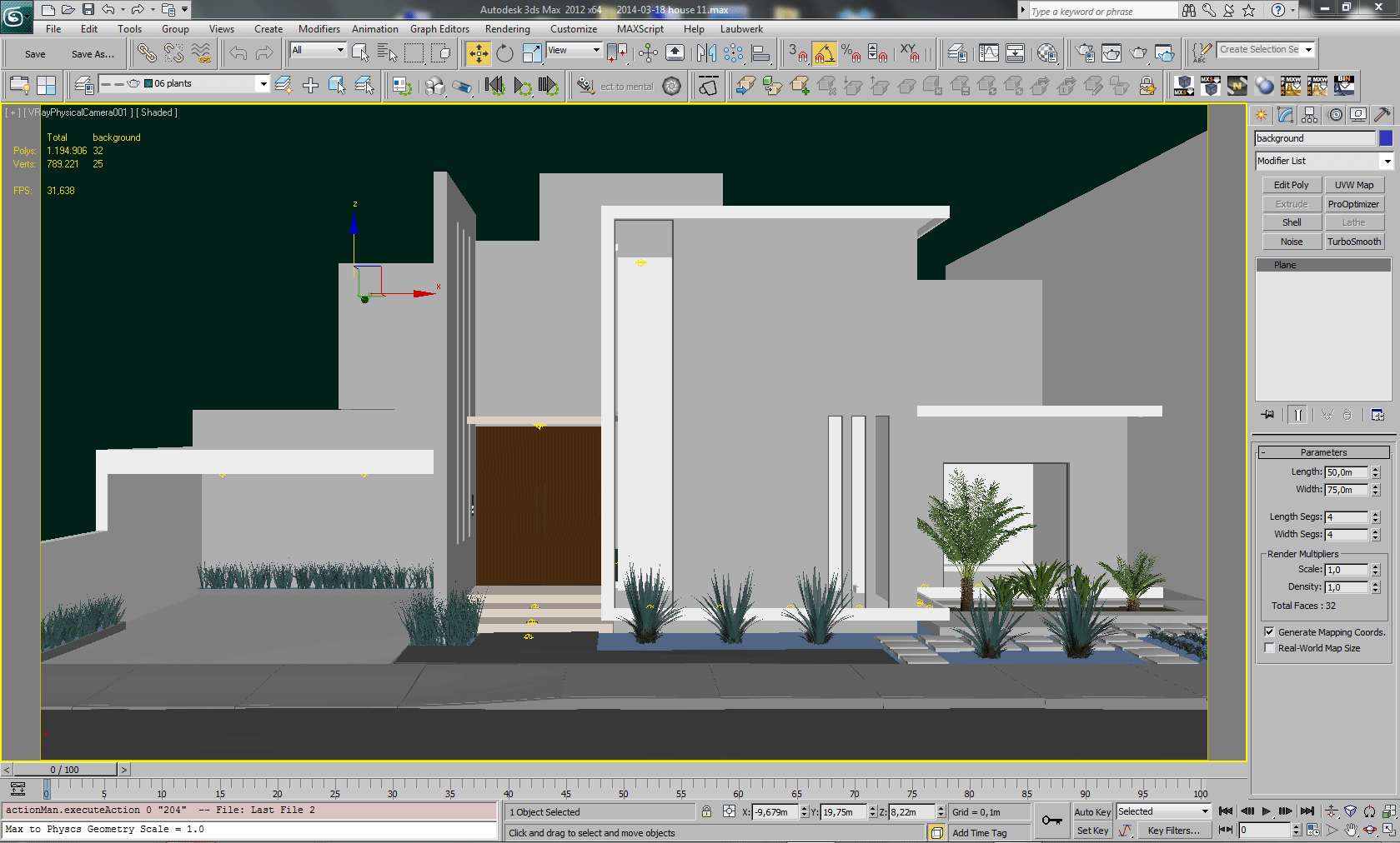 Casa Navona 3ds max screenshot