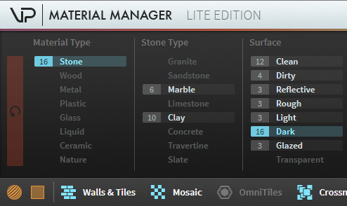 VP Material Manager Attributes