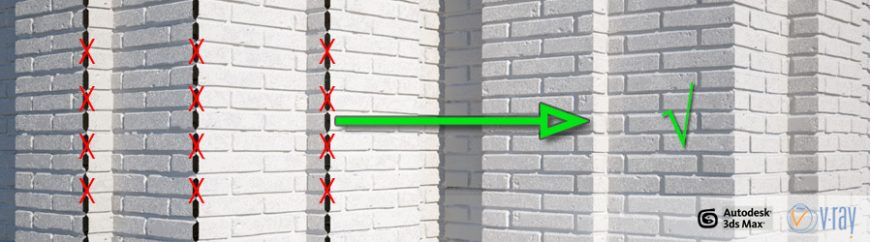 Correct Corner Displacement In Vray With Walls Tiles Vizpark