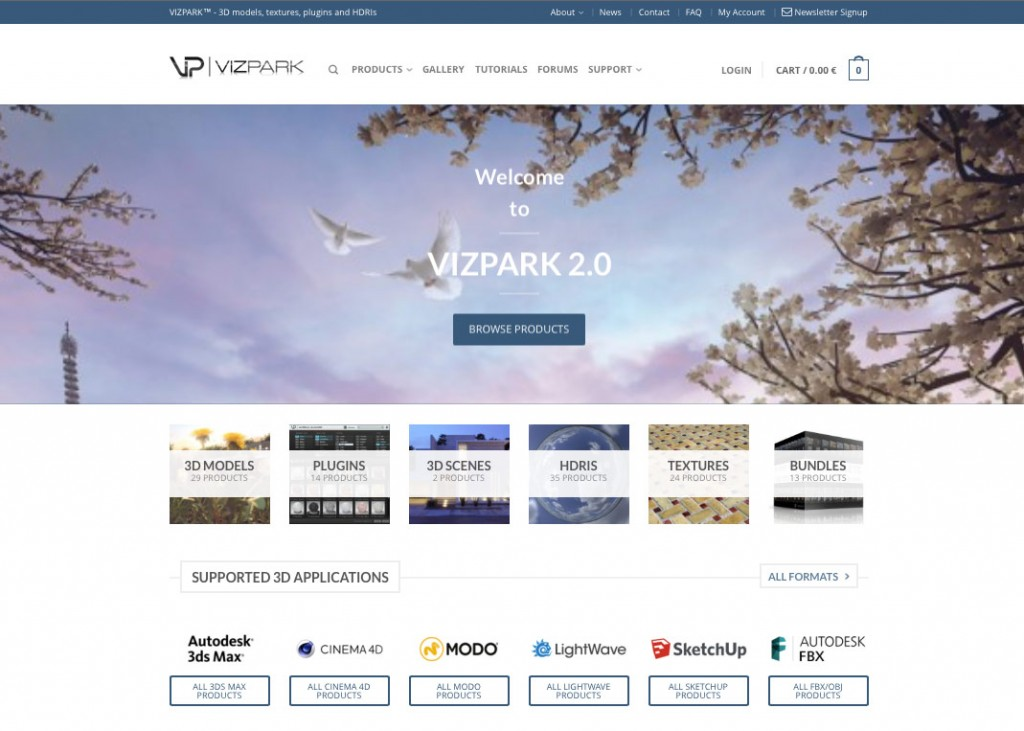 VIZPARK 2.0 Website Relaunch
