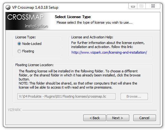 Licensing and installation - VIZPARK™