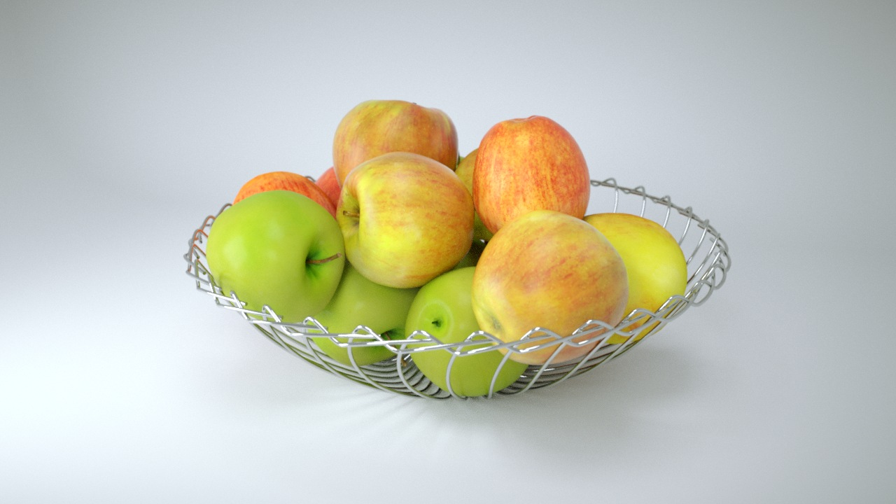VP Apples metal bowl