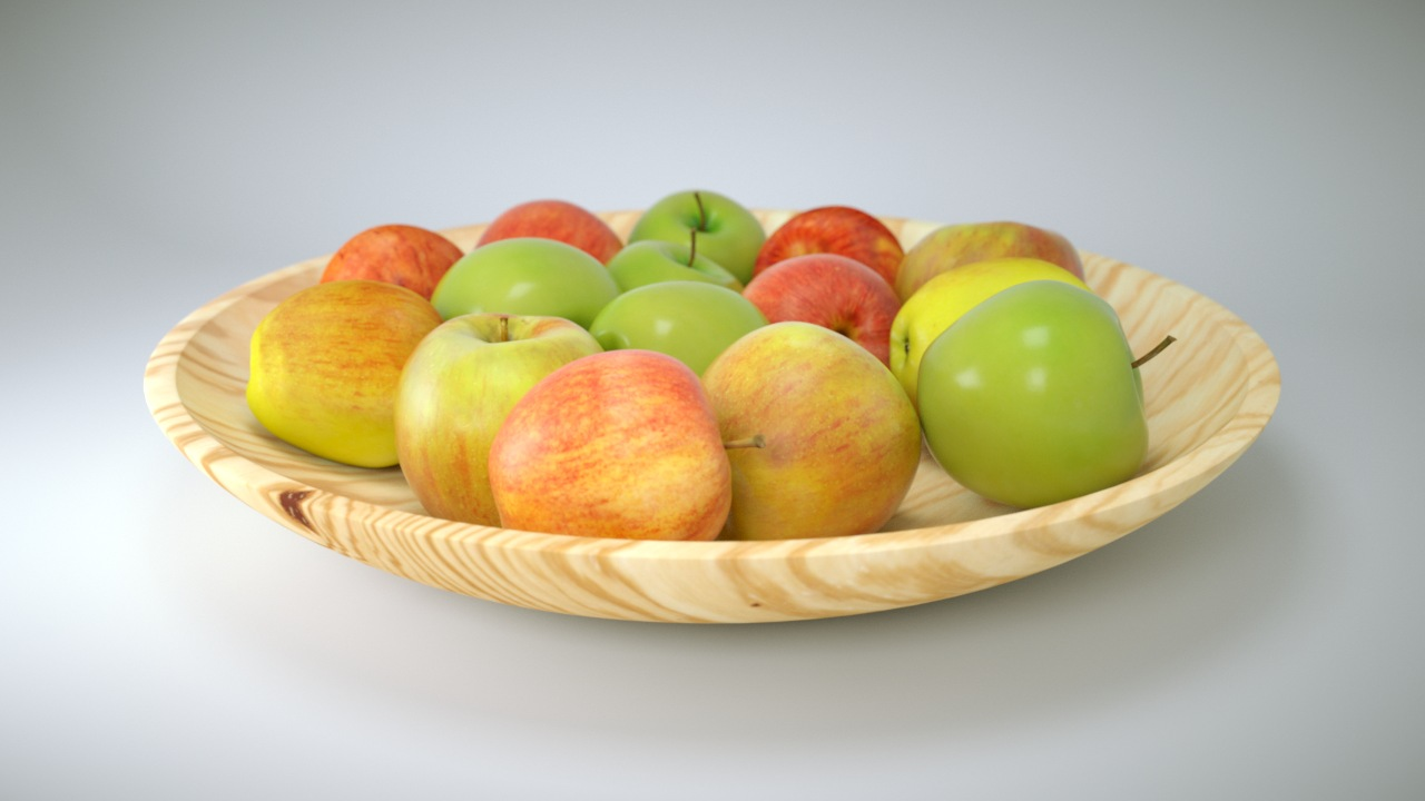 VP Apples wood plate