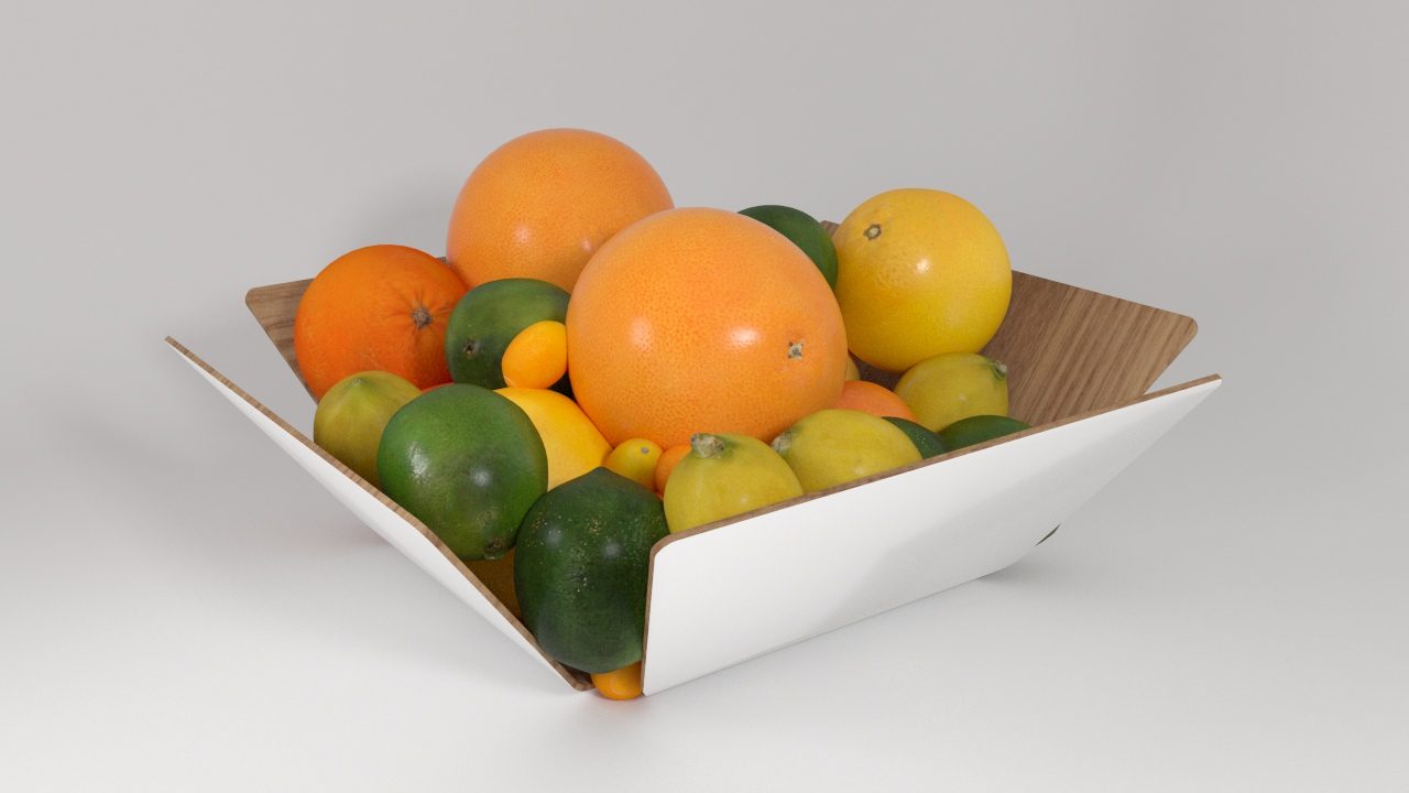 VP Citrus fruits wood bowl