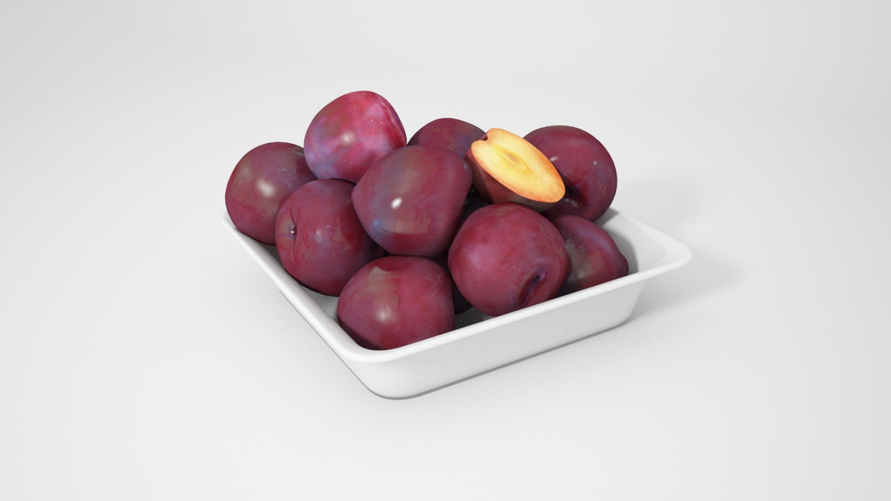 VP Plum square bowl