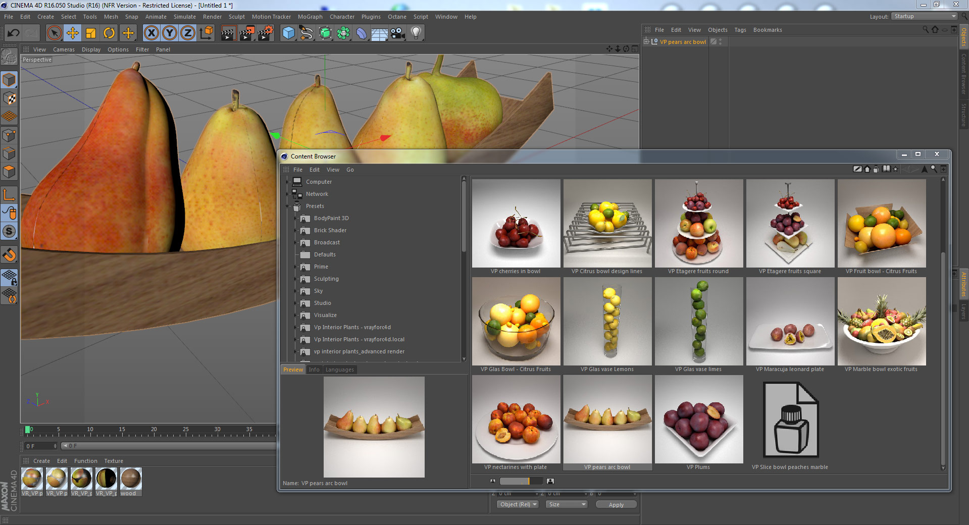 VP | REAL FRUITS - 90 highly realistic 3D fruit models