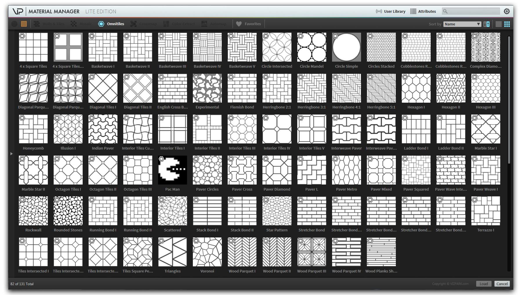 VP Omnitiles 80 pattern presets