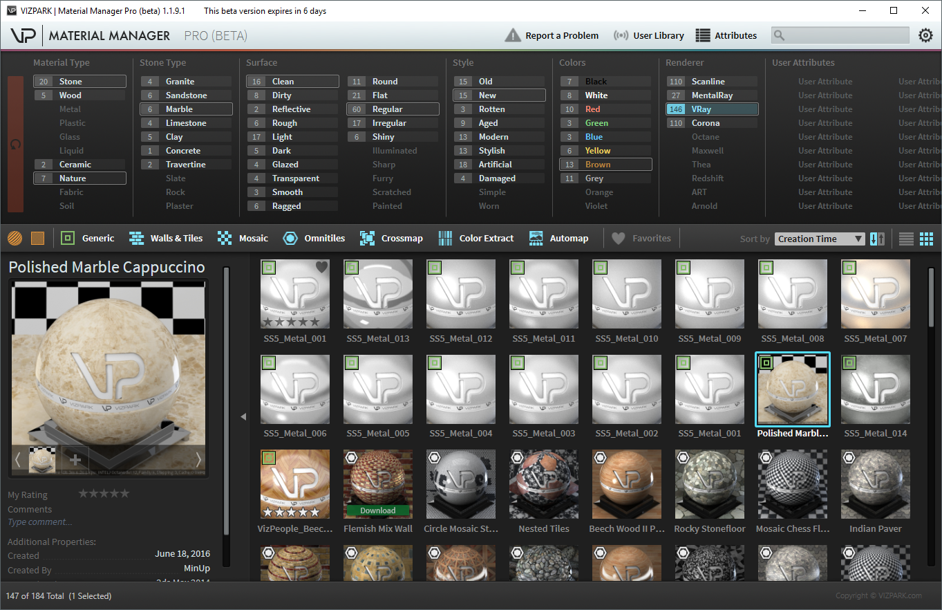 MATERIAL MANAGER is the perfect tool to manage your 3Ds Max